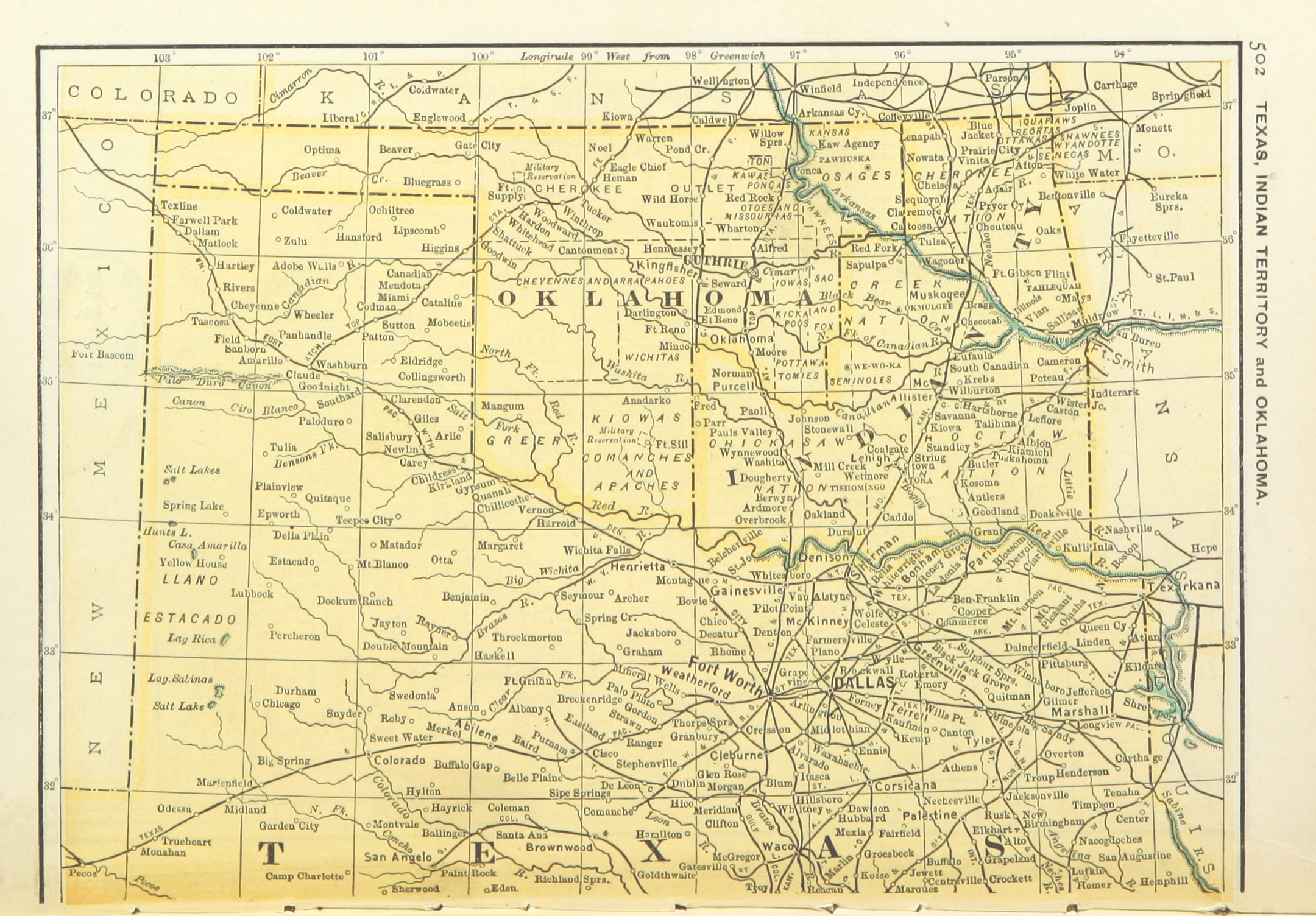 File:US-MAPS(1891) p504 - MAP OF TEXAS, OKLAHOMA AND INDIAN ...