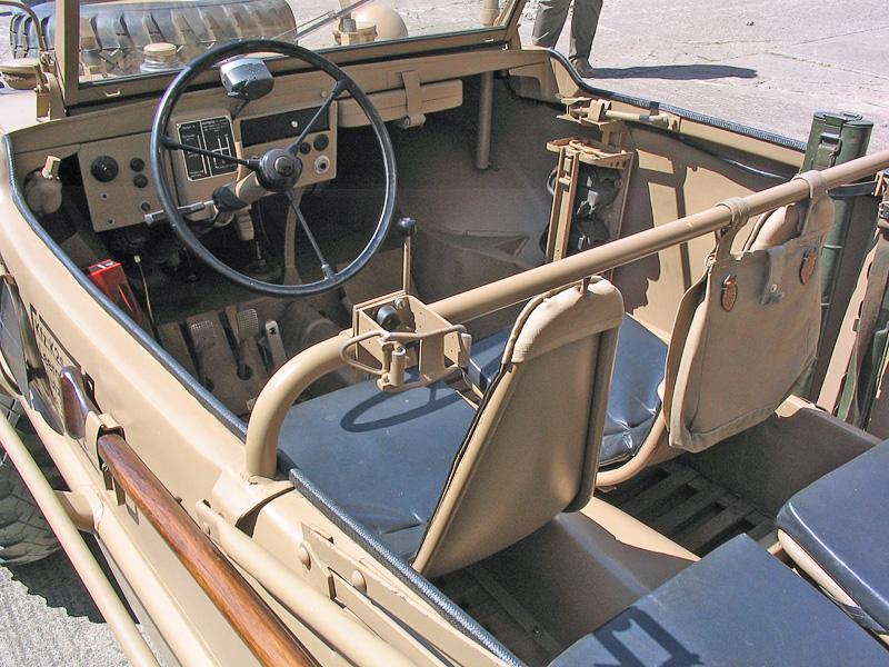interior of a Type 166 Schwimmwagen