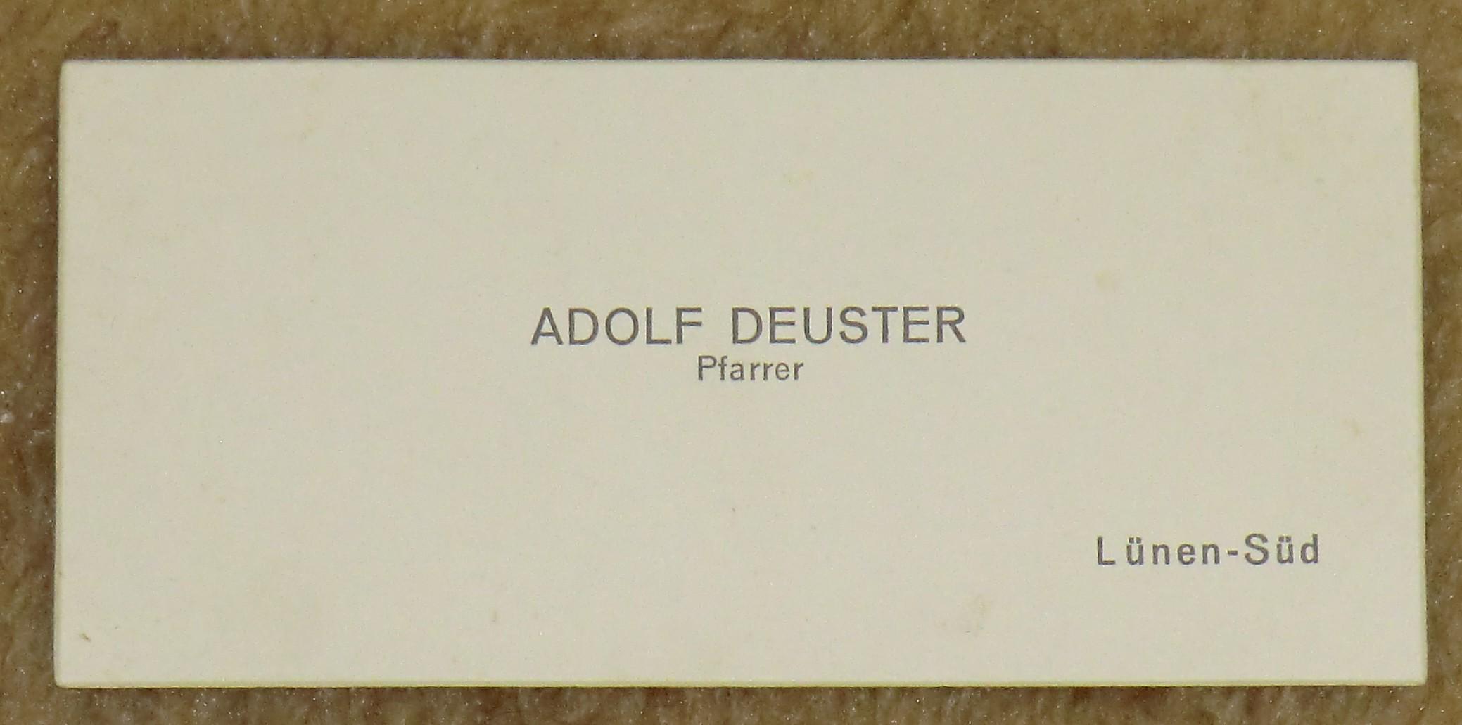 Datei Visitenkarte Adolf Deuster Um 1940 Jpg Wikipedia