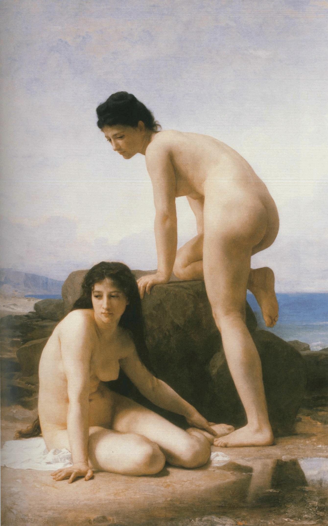 William-Adolphe Bouguereau (1825-1905) - Les Deux Baigneuses (1884)