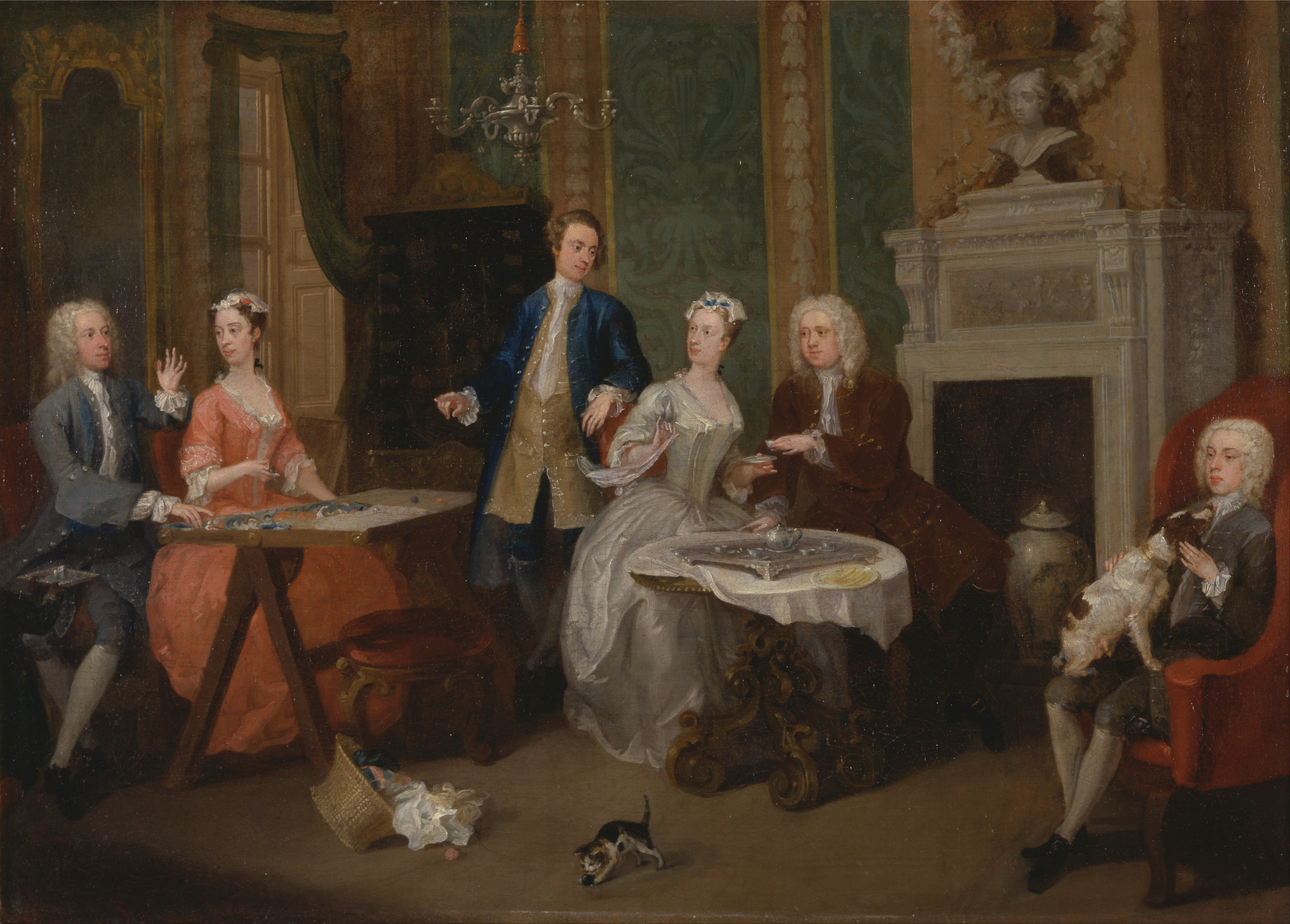 File william hogarth portrait of a family google art for William hogarth was noted for painting