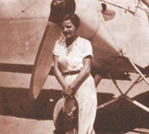 قائدة طائرة مصرية لطيفة النادي