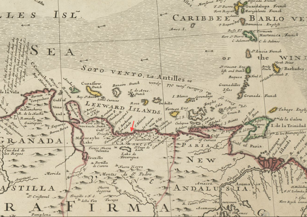 File:1715 Caraccos detail Map of the West-Indies by Herman Moll BPL 14251