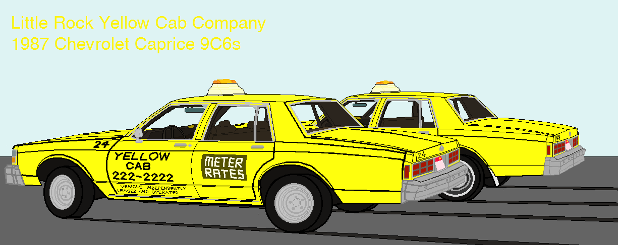 File:1987 Chevrolet Caprice Little Rock Yellow Cabs png - Wikimedia
