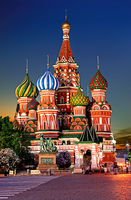 The St. Basil's Cathedral in Moscow
