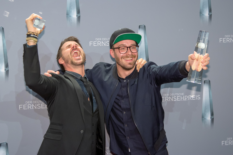 """Deutscher Fernsehpreis 2018 - Mark Forster und Thore Schölermann von """"The Voice of Germany"""" Date 26 January 2018, 21:51:26.45 Source Own work Author Superbass"""