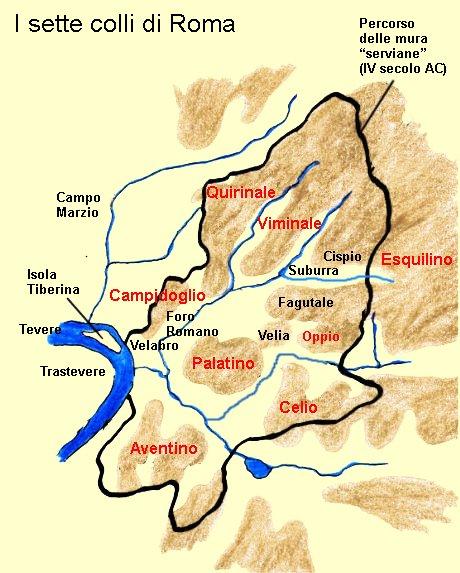 Colli Di Roma Cartina.Viminale Colle Wikipedia