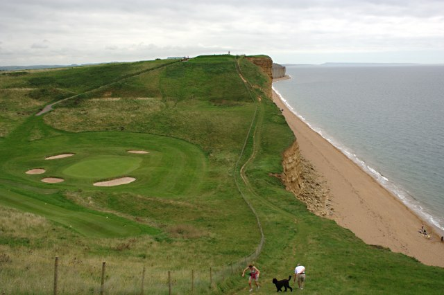 A Dip in the Clifftop - geograph.org.uk - 1443144