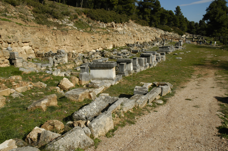 Dedicatory bases at the Amphiareion