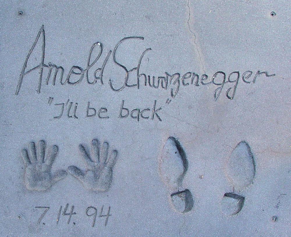 """""""Arnie"""" Schwarzenegger Arnold_Schwarzenegger_-_I'll_be_back"""