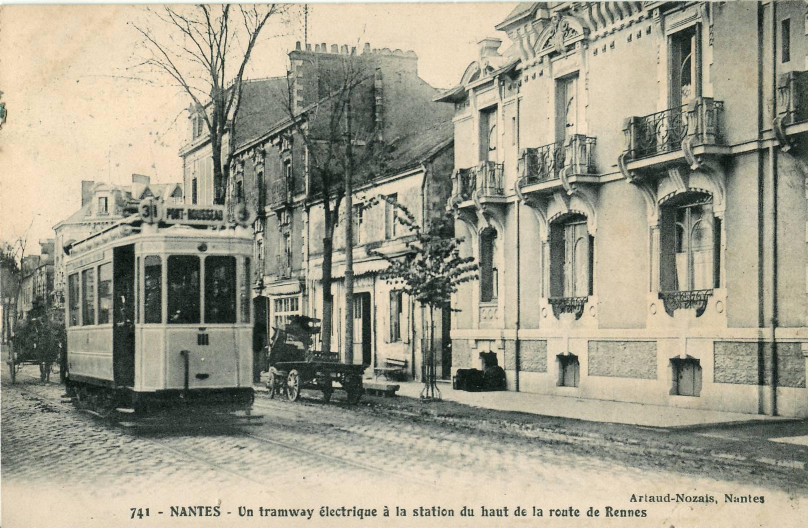 file artaud nozais 741 nantes un tramway lectrique la station du haut de la route de. Black Bedroom Furniture Sets. Home Design Ideas