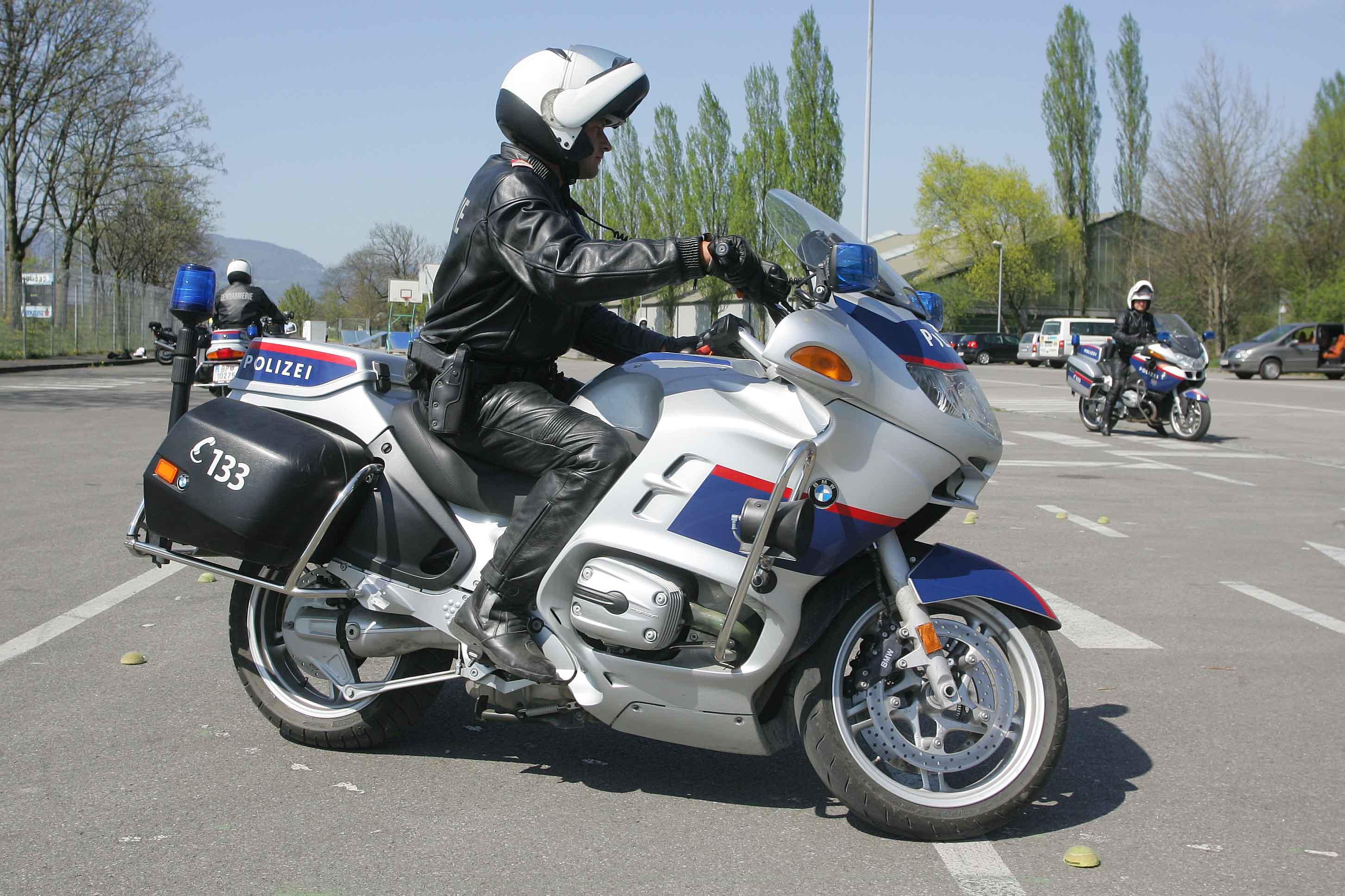 File Austrian Police Motorcyclist Jpg