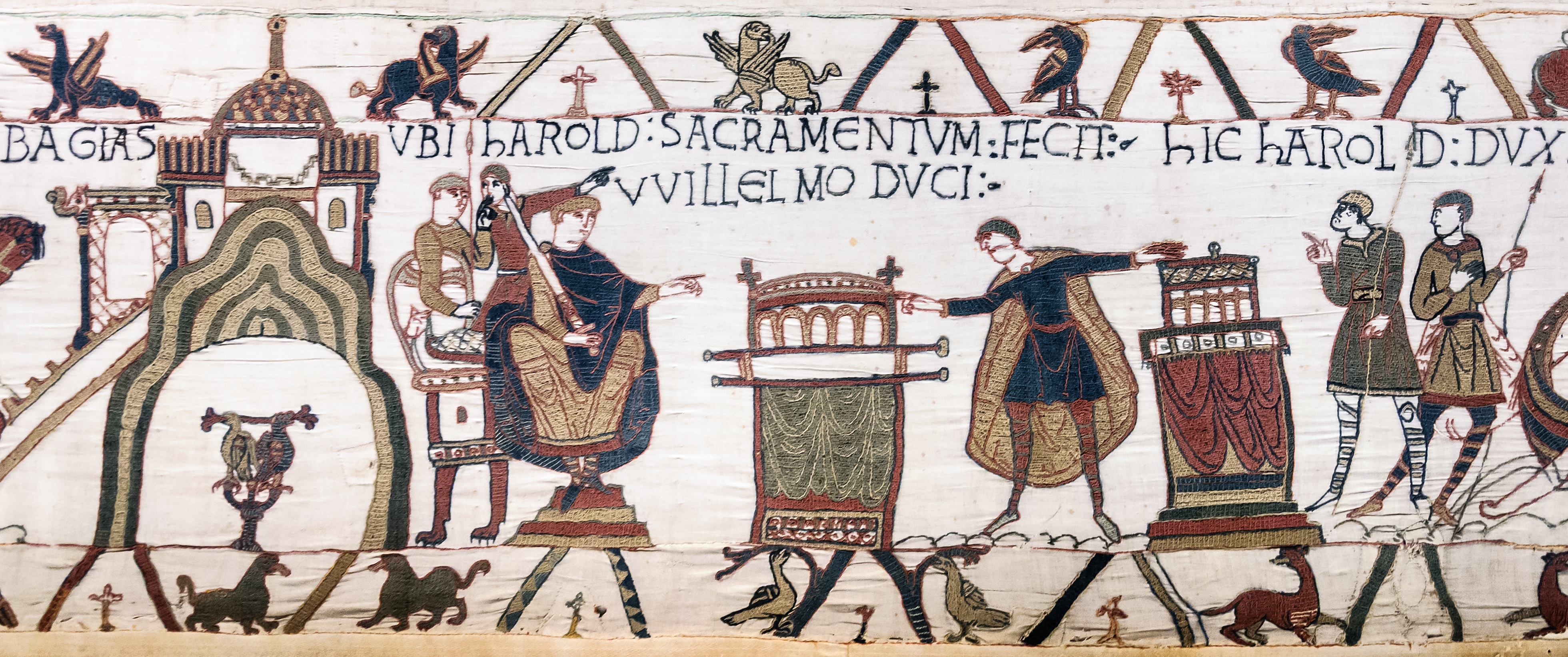 File Bayeux Tapestry Scene23 Harold Oath William Jpg Wikimedia Commons