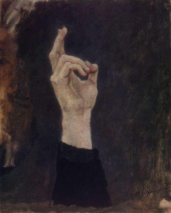 Кто такая боярыня Морозова и почему она тычет пальцем в небо