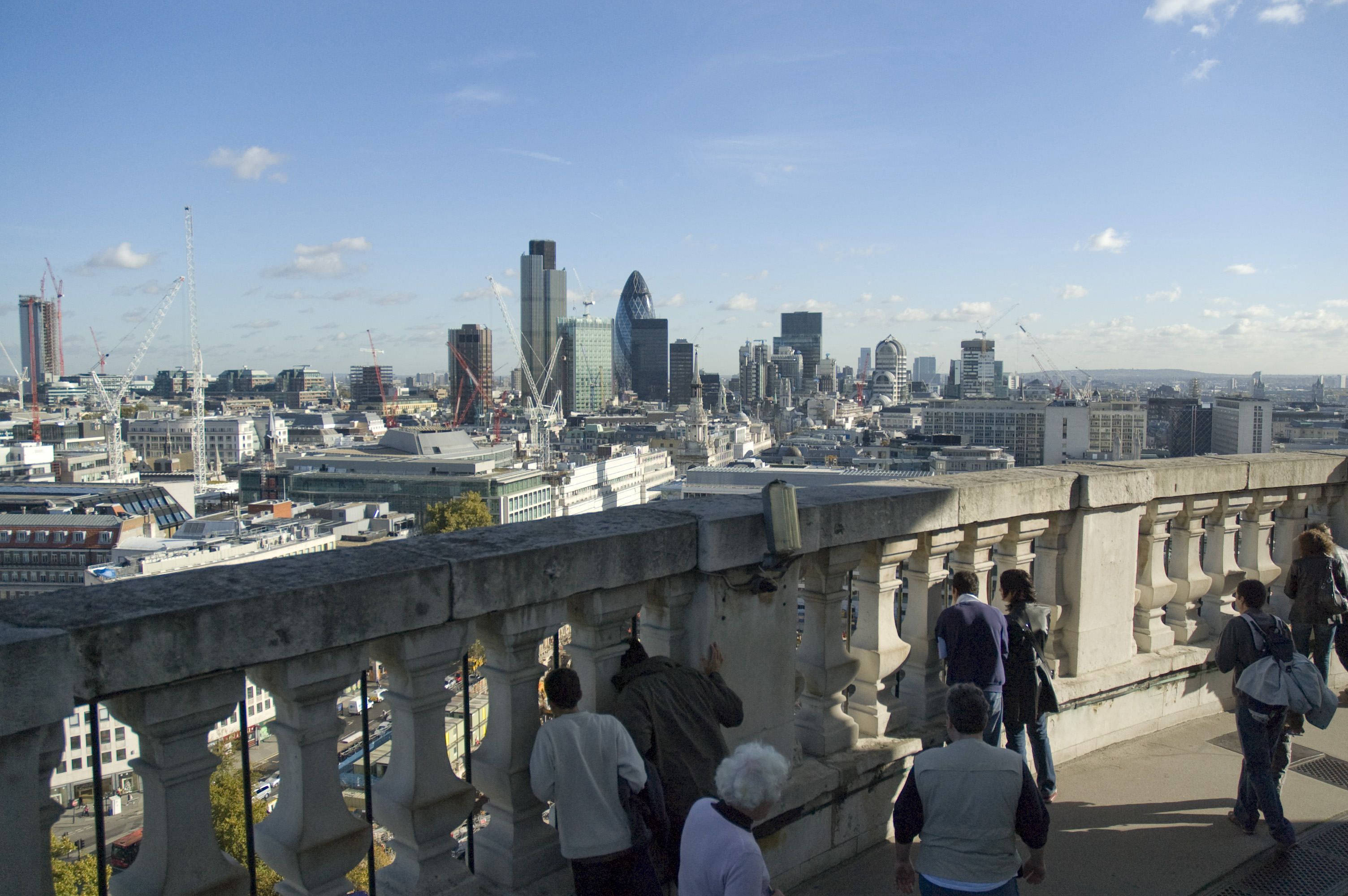 File:City of London's skyscrapers from St  Paul jpg
