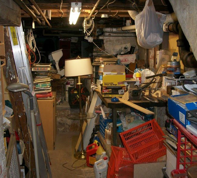 Clutter in basement