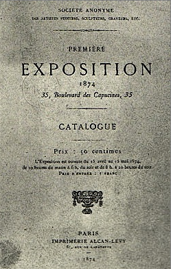 Cover Catalogue First Exhibition Société anonyme 1874