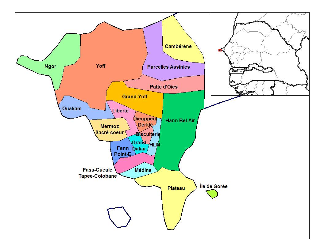 Filedakar Communes Darrondissementpng Wikimedia Commons