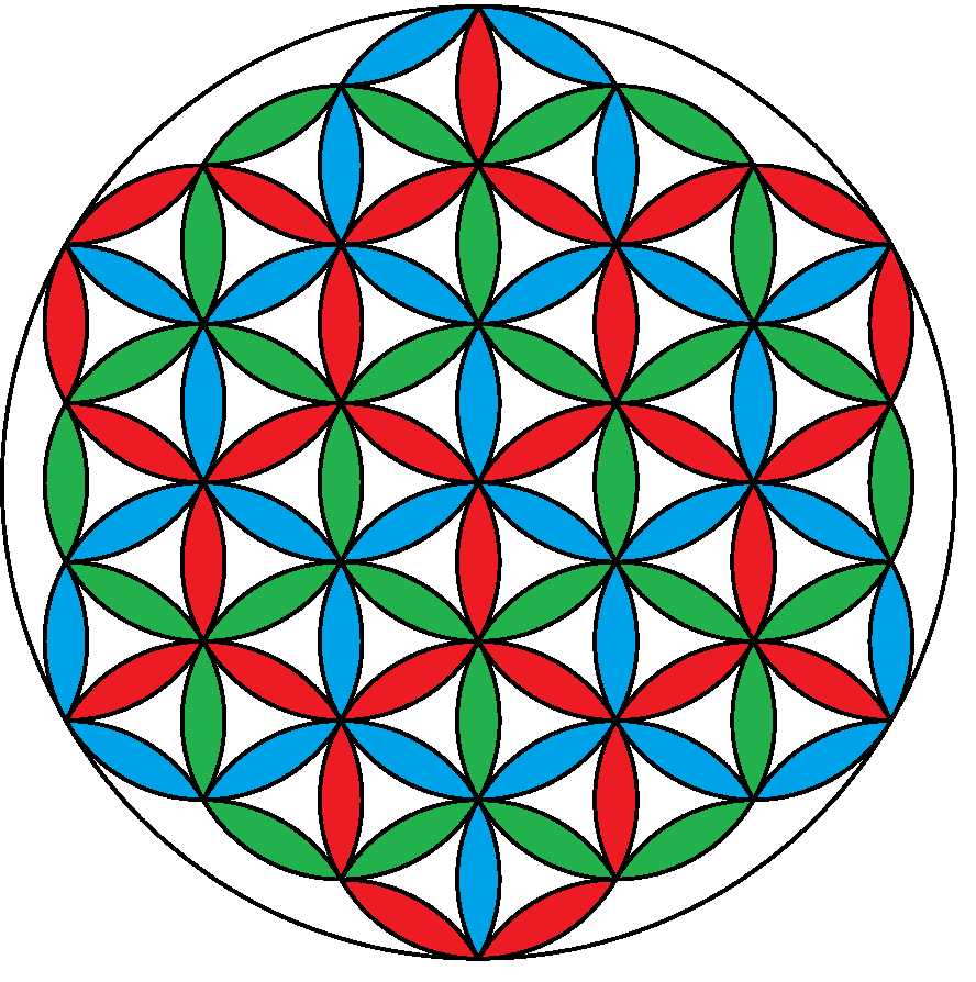 File:Flower of life 3-color.png - Wikimedia Commons