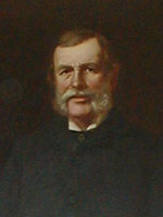 Painting of a man with a moustache and large sideburns.