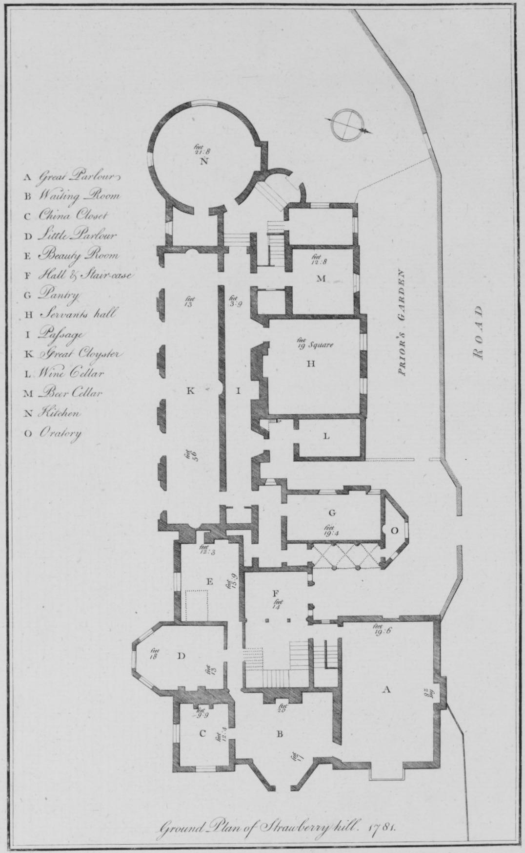 File Ground Plan Of Strawberry Hill Wikimedia