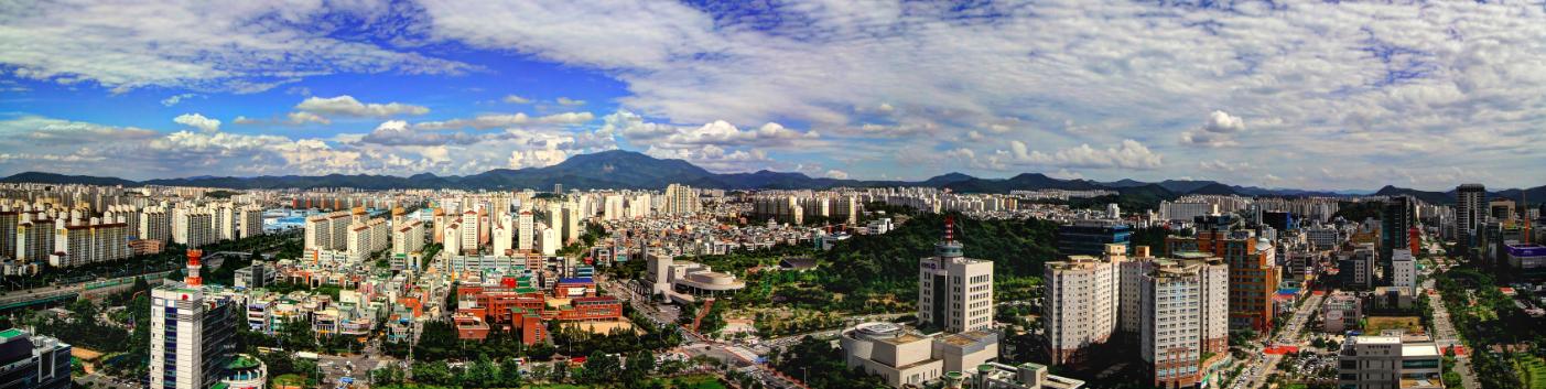 Downtown Gwangju from city hall