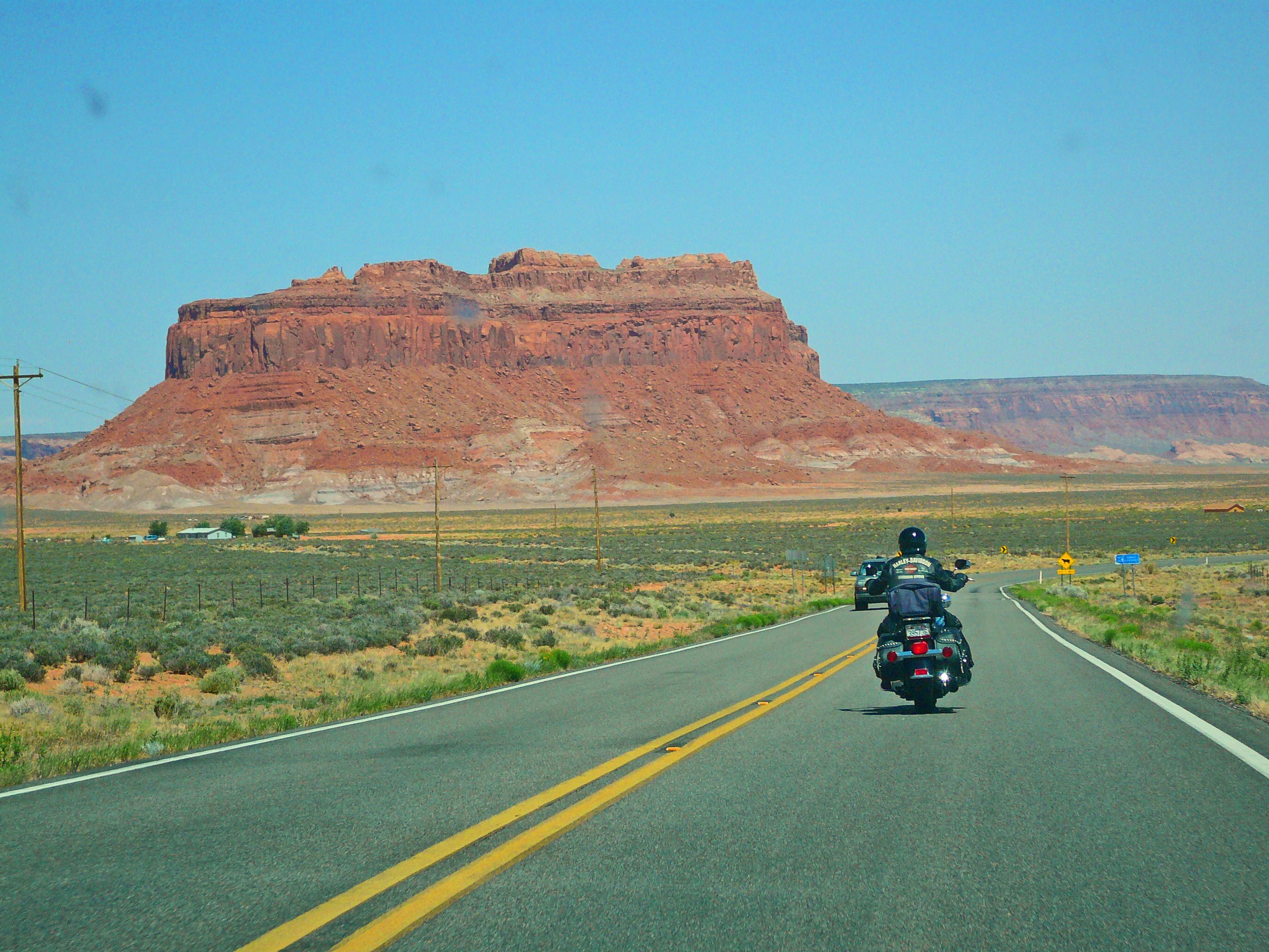 file:harley davidson near monument valley - panoramio