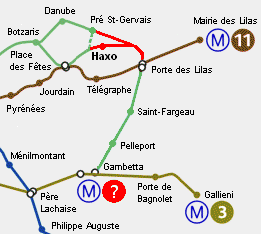 Technologie lignes et services de m tros prolongements et - Paris gallieni porte bagnolet google map ...