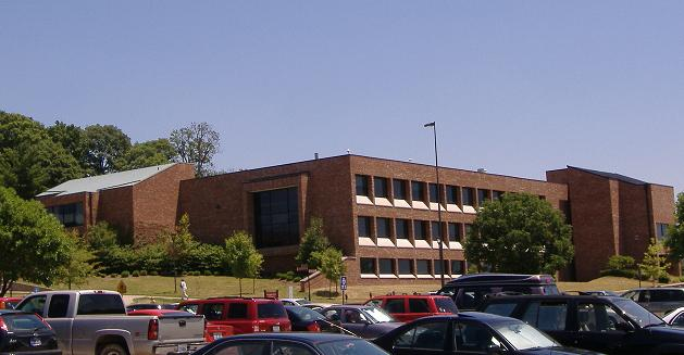 The outside parking lot view of Life Sciences Building