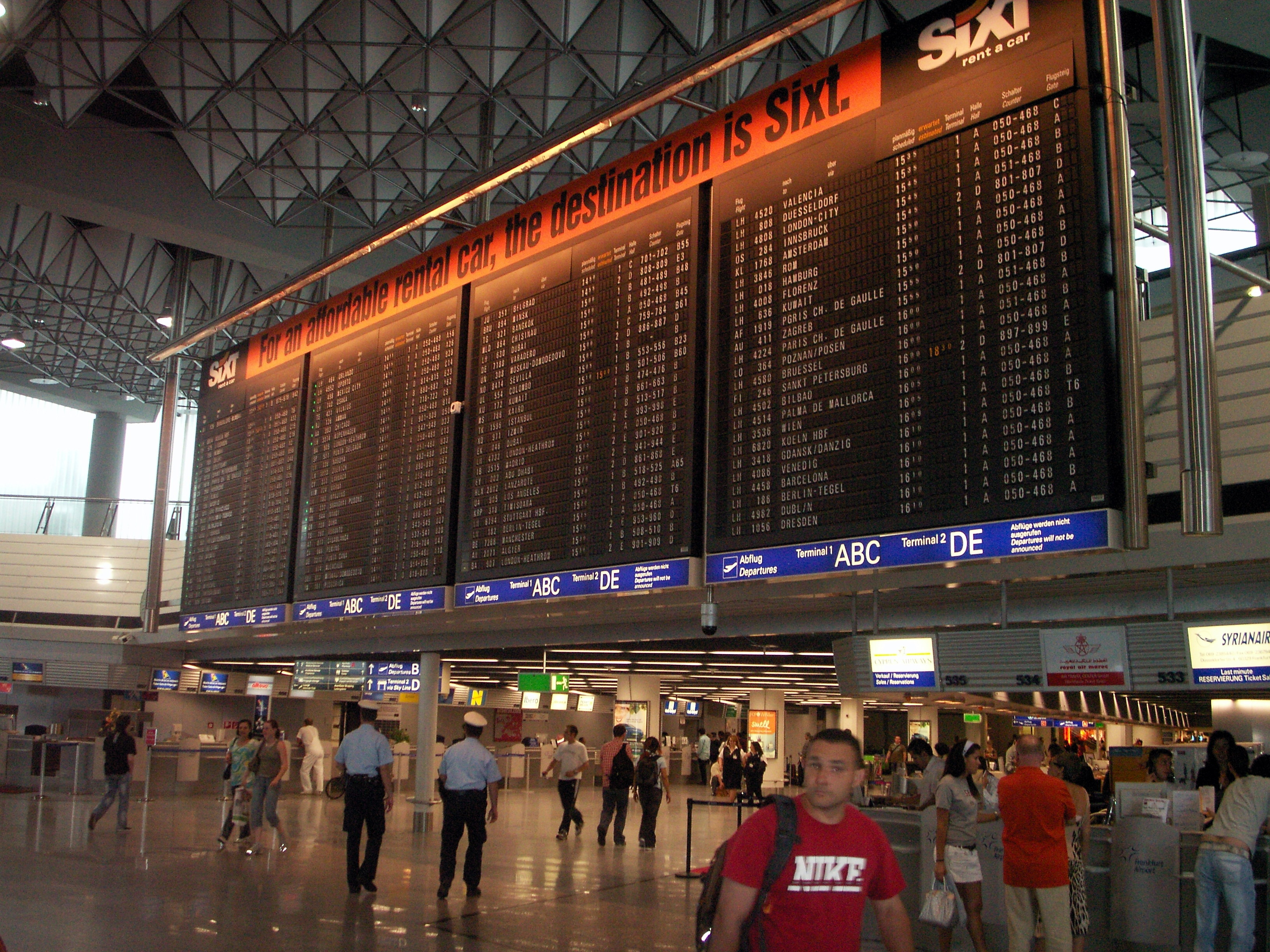 Webcam Terminal 1 Flughafen Frankfurt