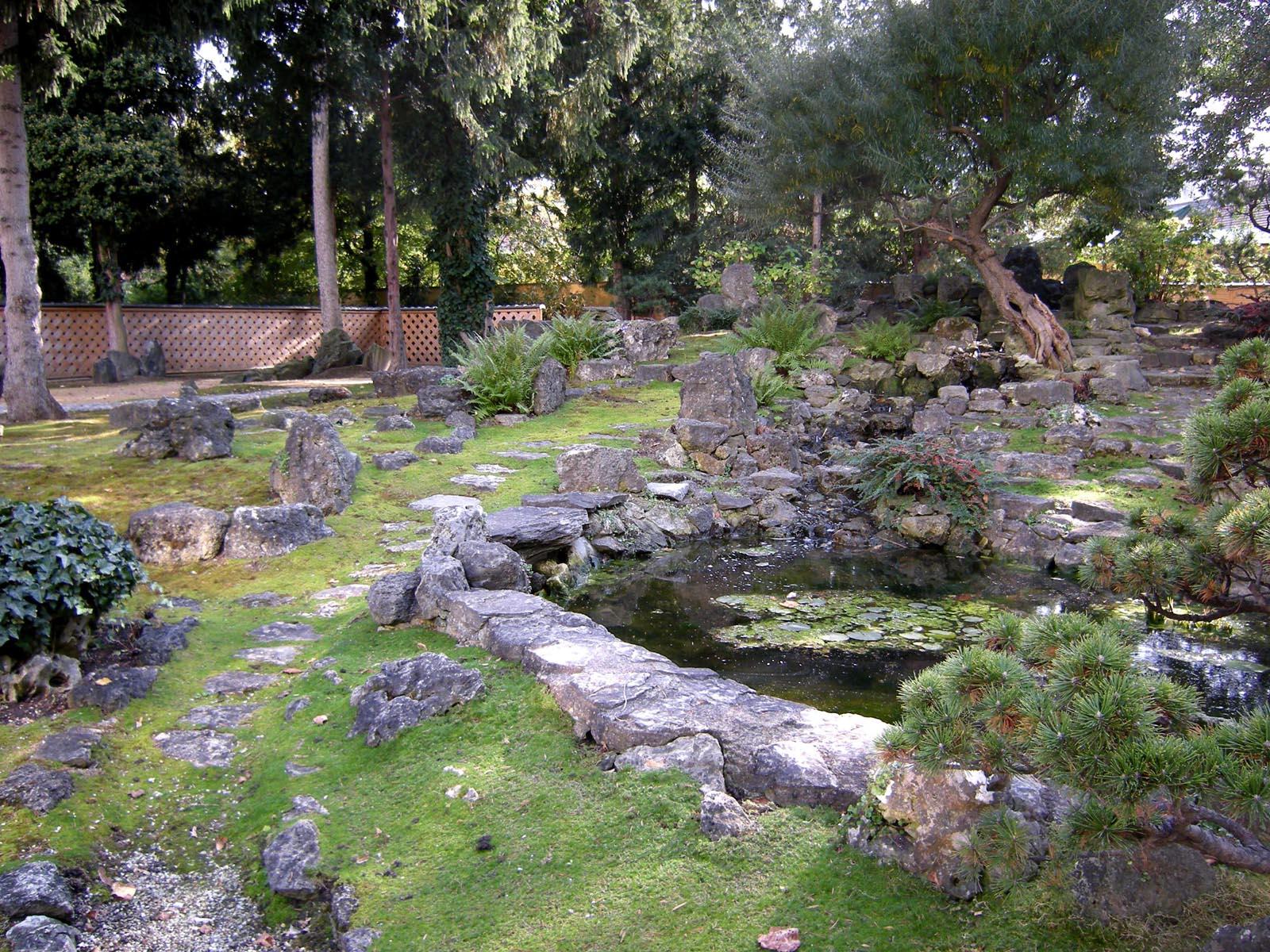 File Anese Garden Schönbrunn Stone Part Stepping Stones Along