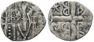Byzantine coins showing John V and his co-emperor & guide Kantakouzenos during their peaceful co-existence