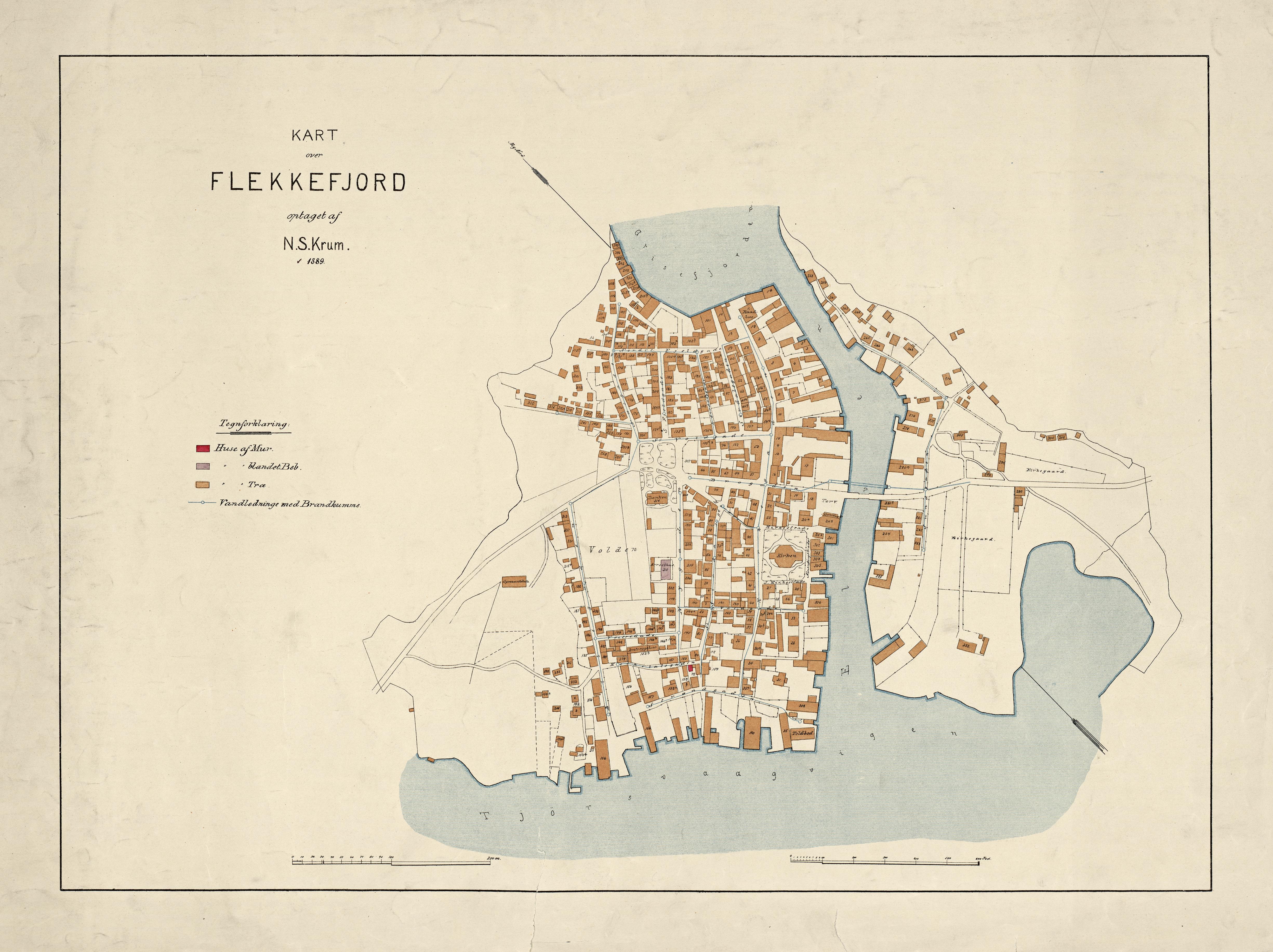 FileKart over Flekkefjord 1889 Nonb krt 01285jpg Wikimedia