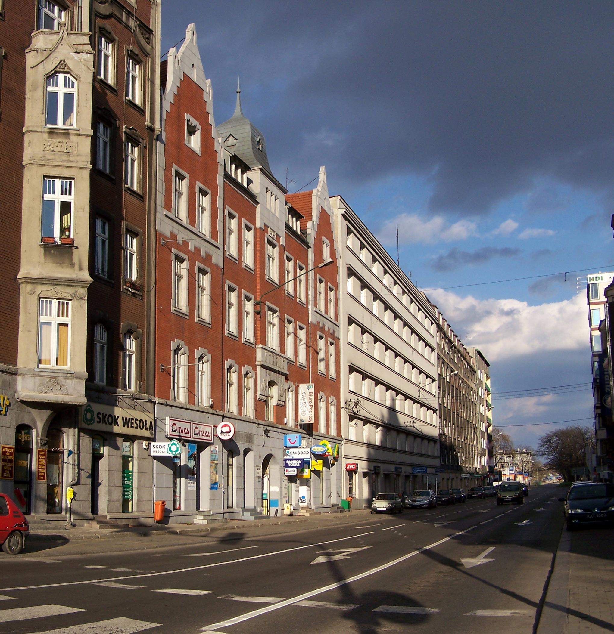 Ulica Stanisława Moniuszki w Katowicach