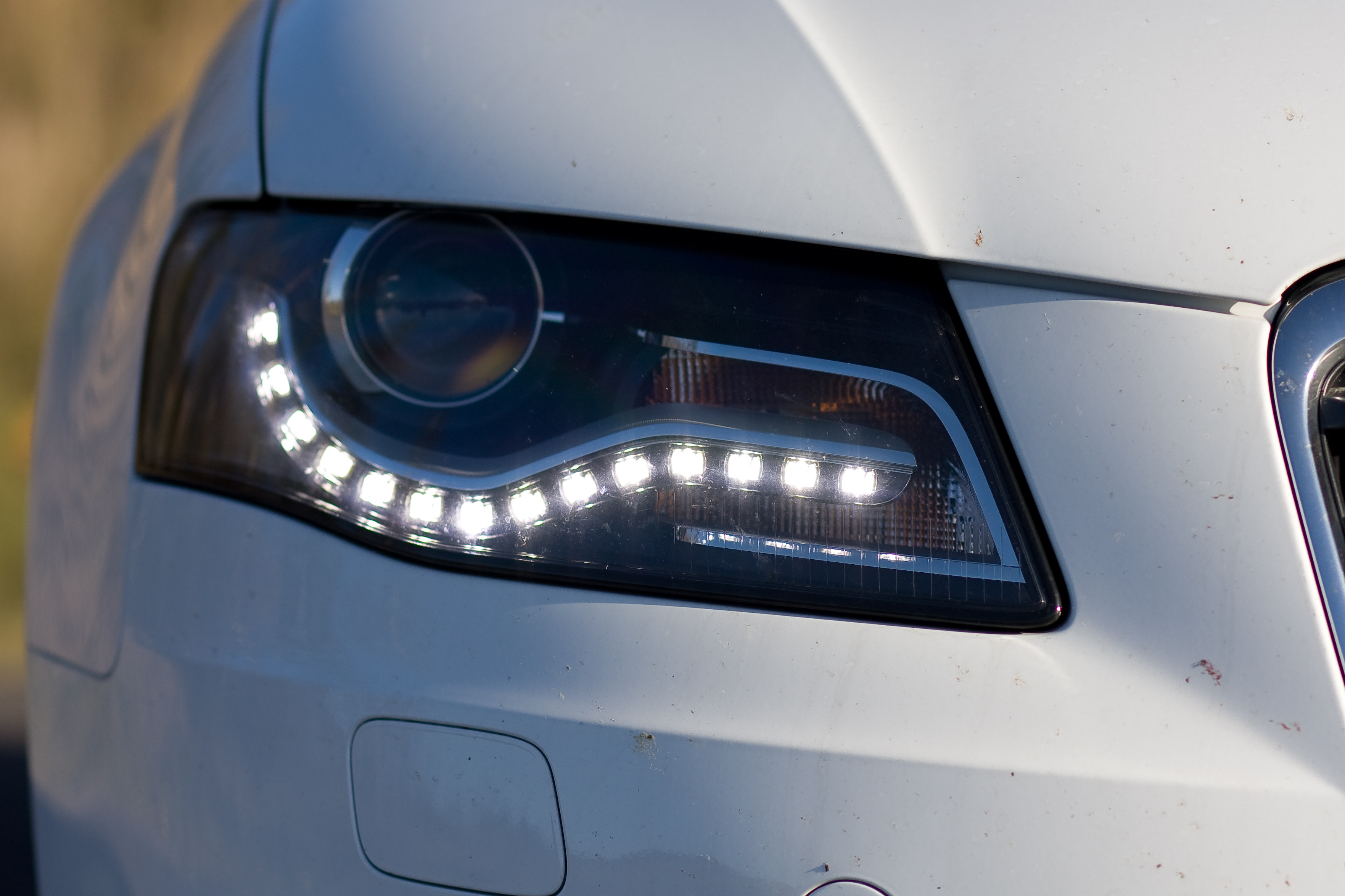 Alfa img - Showing > Audi A4 LED Lights at Night