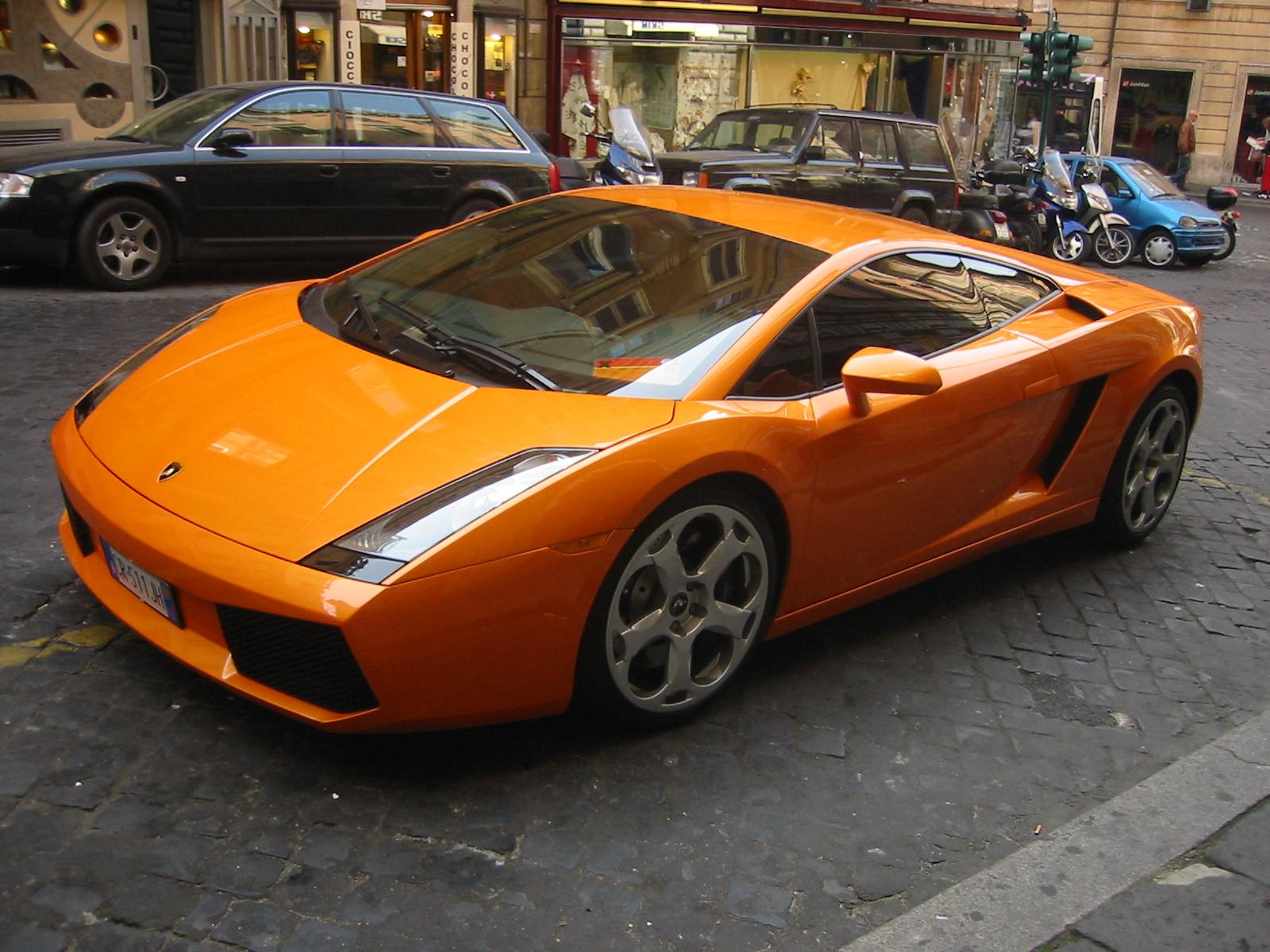 Orange Lamborghini Murcielago