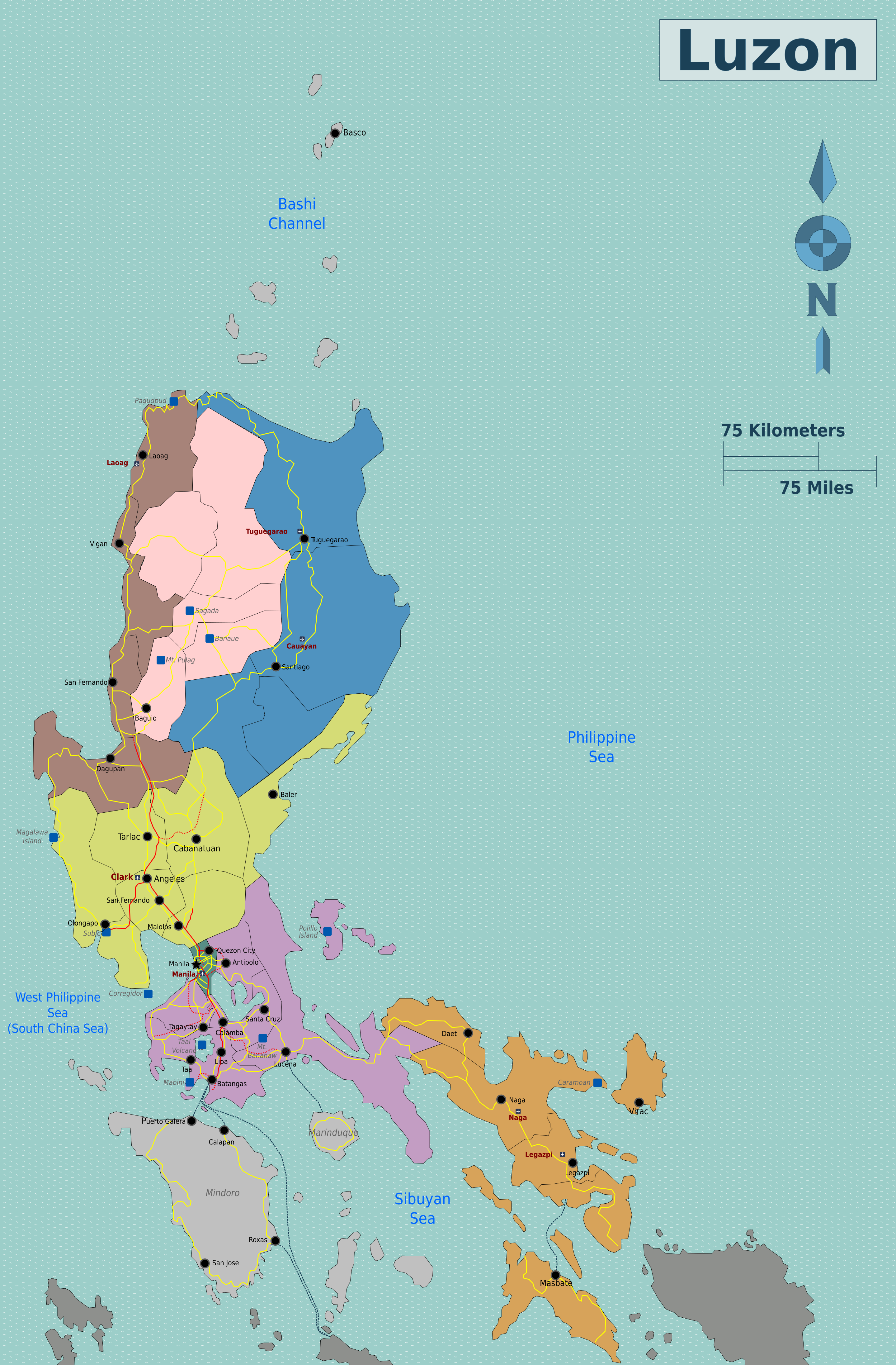 Map Of The Philippines Luzon Luzon – Travel guide at Wikivoyage