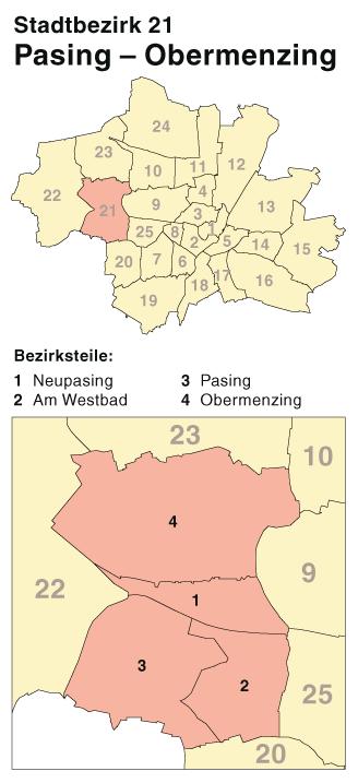 File Munchen Stadtbezirk 21 Karte Pasing Obermenzing Png
