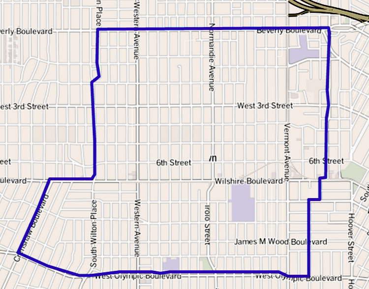 File Map Of Koreatown Los Angeles California Png Wikimedia Commons