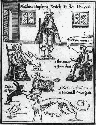 An image of Matthew Hopkins, the self proclaimed witch finder general.