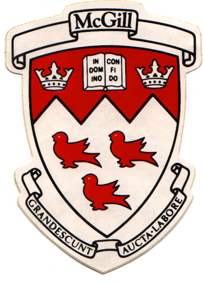 Detail Of McGill University Seal On Principals Sleeves Scarlet The Colour Is Prominent In Its Various Academic Regalia