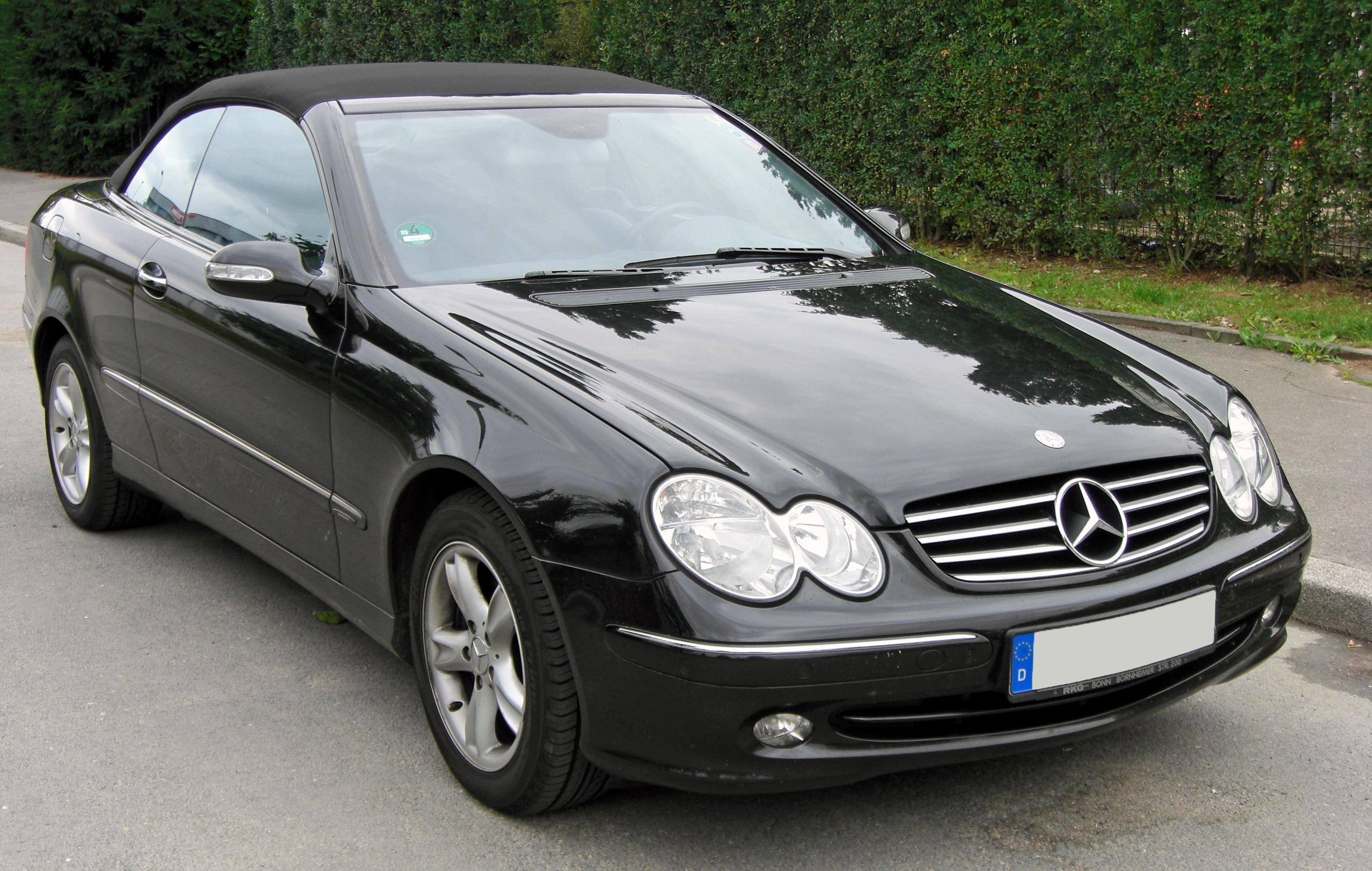 file mercedes clk cabriolet a209 20090712 front jpg wikimedia commons. Black Bedroom Furniture Sets. Home Design Ideas