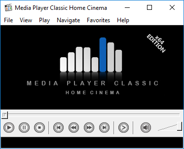 Media Player Classic - Home Cinema version 1.7.10 running on Windows 10