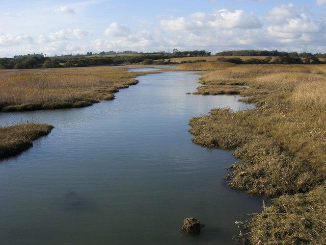 Mudflats of River Yar - geograph.org.uk - 1049281