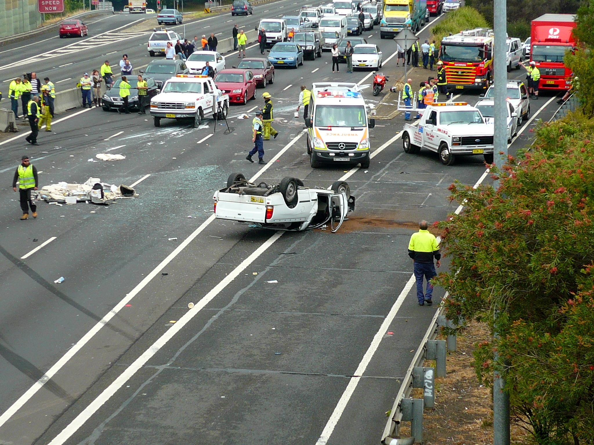 Car Accident On Freeway Perth