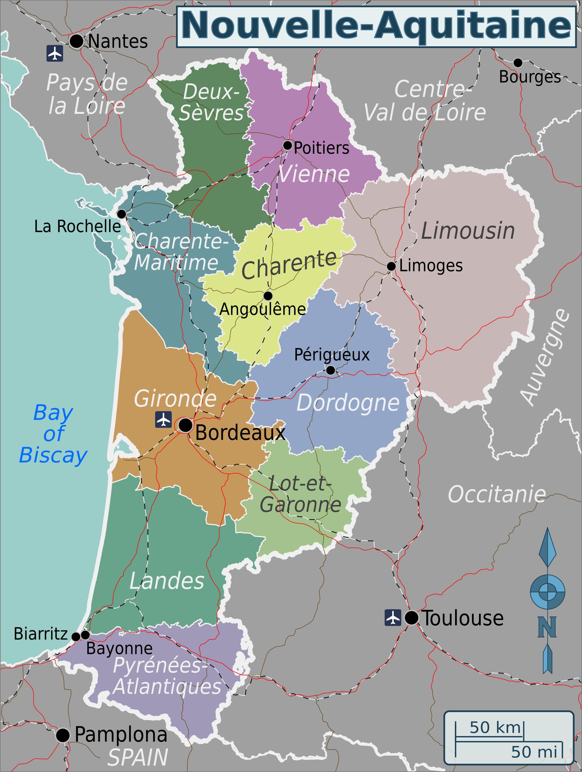 File Nouvelle Aquitaine Wv Region Map En Png Wikimedia Commons