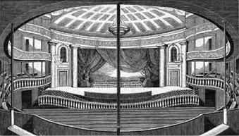 Interior of the Park Theatre, built in 1798