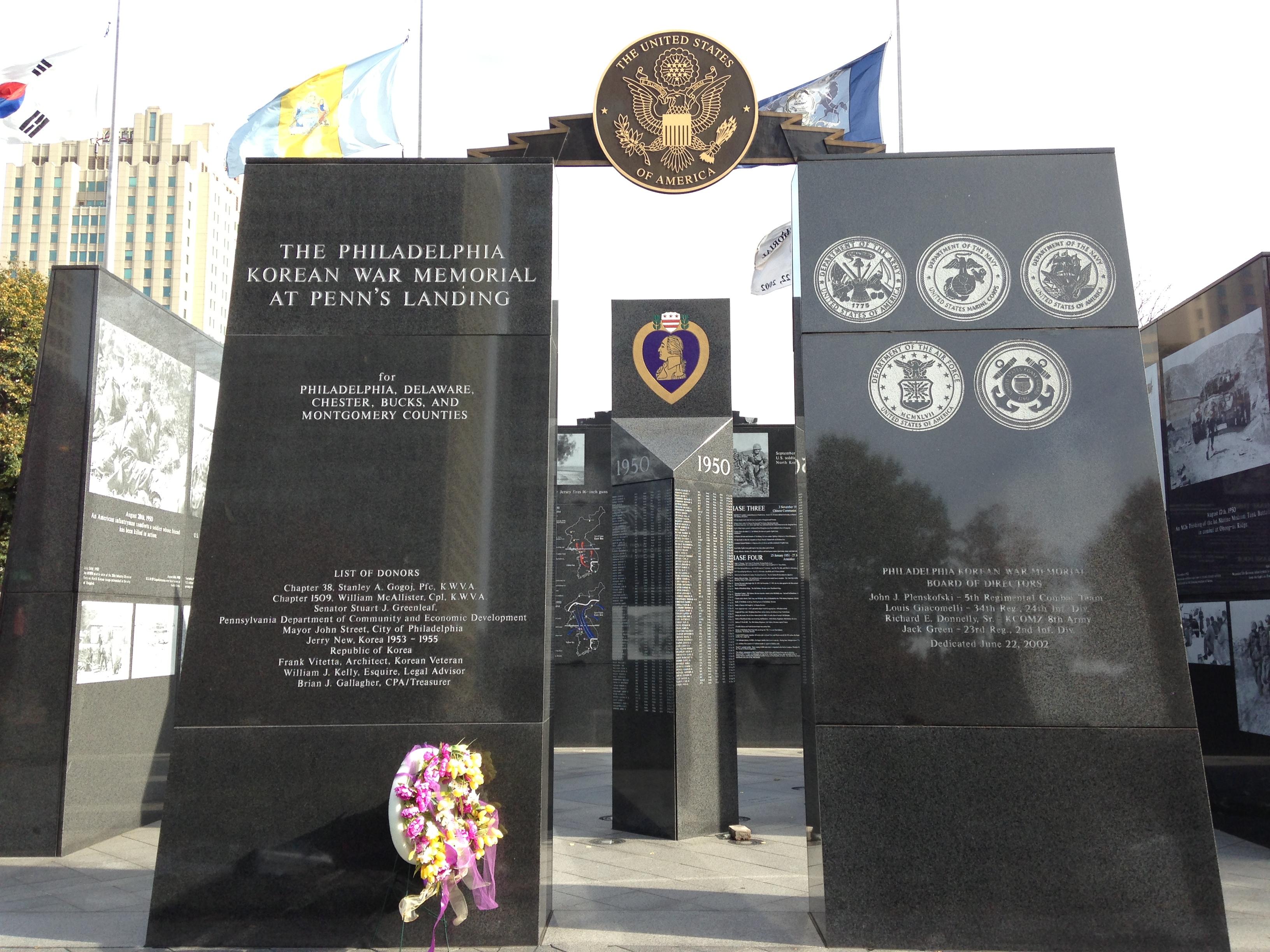 Philadelphia Korean War Memorial Philadelphia Roadtrippers