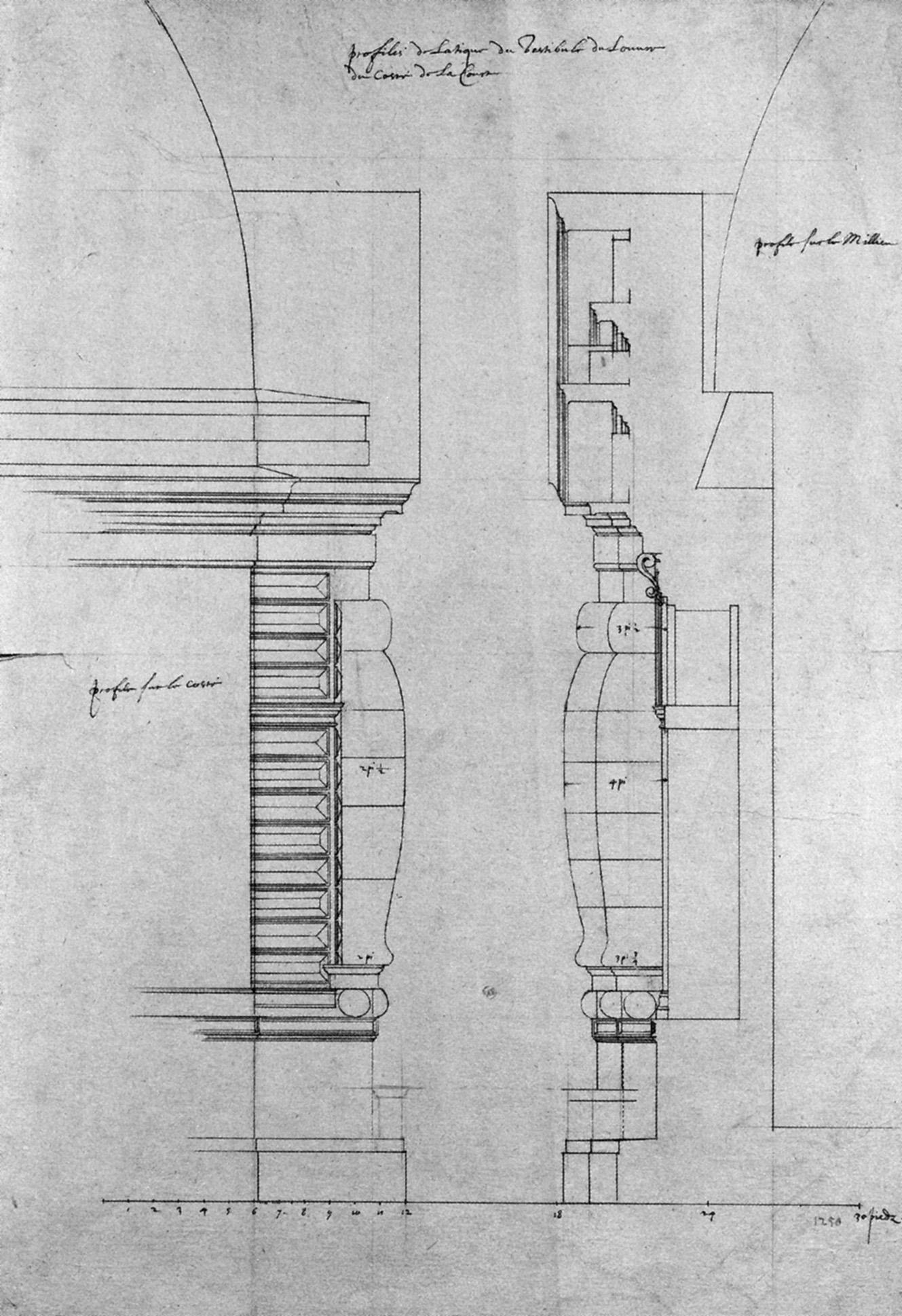 File Profiles De L Etage D Attique Du Pavillon Neuf Du Louvre