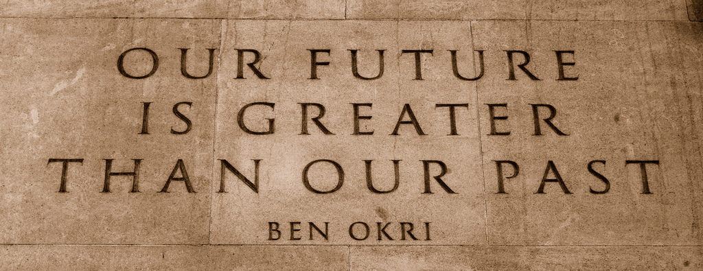 Quote from Ben Okri's ''Mental Fight'' on the [[Memorial Gates (Constitution Hill)|Memorial Gates]].